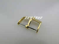 Wholesale 16mm Watch Strap - 16mm 18mm 20mm Top-Grade gold Stainless Steel Watchband Strap Deployments Clasp Buckle For Rolex Watch