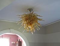 luces de techo dormitorio arañas antiguas al por mayor-Más popular Made In China Antique Murano Glass Chandelier Fancy Dormitorio Muebles LED Arte Decoración Iluminación Techo