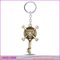 Wholesale Onepiece Men - Anime Series One Piece ONEPIECE Pirates Skull Key Keychains Metal Keyring Keychain For Fans Men Jewelry