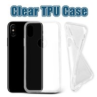 Wholesale Galaxy Plus - For iPhone 8 Thick TPU Case Samsung Note 8 Cases Galaxy S8 Plus Clear Soft TPU Case High Quality 1.0mm Soft Transparent gel Case Opp Bag