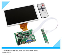 Wholesale Driver Hub - 7 Inches Raspberry Pi LCD Display Screen TFT Monitor AT070TN90 with HDMI VGA Input Driver Board Controller