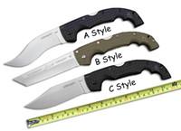 Wholesale Nylon Fibers - Cold Steel Big Folding Knife 8CR13MOV 56-57HRC Blade Nylon Fibers Handle Drop Tanto Point 3 Styles Survival Camping Knife F688L