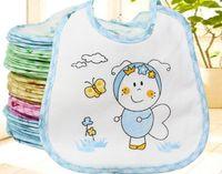 Wholesale Toddler Baby Bibs - Hot new infants toddler baby cotton bib feeding cartoon waterproof boys girls lunch bibs