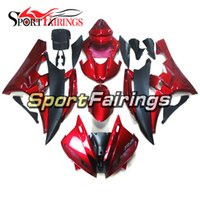 Carrinhos de Injeção para Yamaha YZF 600 R6 YZF-R6 06 07 Ano 2006 2007 ABS Motorcycle Fairing Kit Bodywork Complete Cowlings Red Matte Black