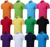 chemises de champagne hommes achat en gros de-2016 été broderie Cheval Polo Chemises homme 100% coton polos chemises Hommes Manches Courtes Chemises Décontractées Homme Pony Shirt Solide Camisa Tee