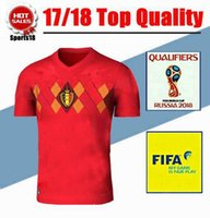 08ce58c80 Belgium Jersey 2017 World Cup and FIFA patch LUKAKU HAZARD VERMAELEN  Kompany DE BRUYNE Fellaini national 2018 soccer jersey shirts