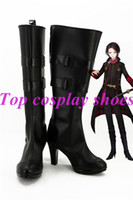 Wholesale High Heels Shoes Online - Wholesale-DMM Touken Ranbu The Sword Dance online Kashuu Kiyomitsu California kiyomitsu Cosplay Boots Shoes black high heel #TR003