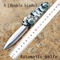 Wholesale Fishing Multi Tool - Camouflage outdoor multi-function portable tactical automatic spring knife Brand cutting tool lifesaving defense D2 steel aluminum alloy
