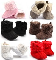 Wholesale Toddler Girls Winter Boots Cheap - Cheap winter wool baby toddler shoes Newborns shoes Baby First Walkers Shoes Boutique infant Boy girl boots plus cashmere 1719