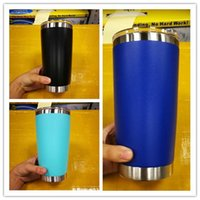 Wholesale Coloured Drinks - In stock!Hot 8 colours 20oz stainless steel mugs 20oz style cups Drinking cups top quality with best price with lid