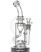 циркуляр оптовых-Стеклянная трубка для воды Стеклянная трубка Двухфункциональная нефтяная установка Circ Perc Incycler feb egg bong Лучшее качество стекла