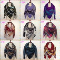 Wholesale Square Scarves Wholesales - Luxury Brand lady scarf za winter big square Scarf Plaid women Scarf Unisex Acrylic Shawls blanket scarves warm bufandas