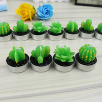 Wholesale Wholesale Mini Cacti - Mini Cacti Bougie Birthday Party Wedding Green Plants Wax Candle Home Decor Valentine Day Gift Many Styles 5mz C R