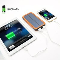 Novo Top FULL8000mAh Portable Solar Power Bank Bateria de carregador de backup LED USB duplo