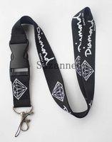 Wholesale Neck Lanyard Logo - FREE SHIPPING black Enthusiasts Men Diamond key lanyard sport logo skateboarding id card neck strap