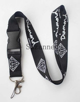 Promotion sport lanyards - black Enthusiasts Men Diamond key lanyard sport logo skateboarding id card neck strap