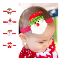 Wholesale Hair Accessorie Baby - Cute Christmas Baby Gift festival party Cartoon Childrens Headbands Christmas baby Hair Bands Infant Headband kids Hair Accessorie A1114