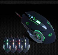 Wholesale Led Optical Gaming Game Mouse - Professional Gaming Mouse 3200 DPI 6 Buttons 6D LED Optical USB Wired Computer Mouse Game Mouse for Laptop PC Top Free Shipping