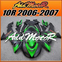 Wholesale Kawasaki Ninja Fairings For Sale - Addmotor New Goods Injection Mold Plastic Big Sale Fairings For Kawasaki 2006-2007 ZX-10R Body Kit Green Black K1668 +5 Free Gifts