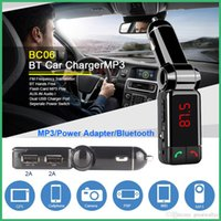 BC06 Bluetooth Car Kit Freisprecheinrichtung BT Hands Free Dual-Port-FM-Transmitter 5V 2A AUX-IN-Musik-Player für Samsung iPhone Handy