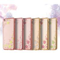 китайские сотовые телефоны бренды оптовых-Мягкие случаи сотового телефона TPU прозрачная крышка телефона с цветками для китайского телефона Huawei P9 Mate8 22 Тавра