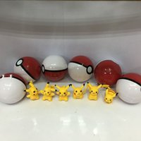 Wholesale Poke Ball Toys for Kids ABS Action Anime Figures cm Pikachu Figure PokeBall Super Ball with Pikachu Genius