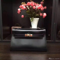 Wholesale ms cans for sale - The new fashion Ms header layer of leather imported hardware buckle diagonal handbags many colors can be customized logo bag
