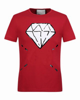 Wholesale Skeleton T - Luxury famous Brand men T-shirt Designer Spring Summer Short Sleeves Vacation skeleton diamond tshirt Runway Fashion Tees Casual Tops M-3XL