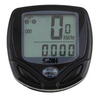 Wholesale Digital Speedometer For Bikes - 1pcs Bicycle Meter Speedometer Wireless digital LCD Cycle Computer Bicycle Odometer For Bike Newest
