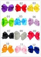 Wholesale large boutique bows - Baby 8 Inch Large Grosgrain Ribbon Bow Hairpin Clips Girls Large Bowknot Barrette Kids Hair Boutique Bows Children Hair Accessories wd383AA