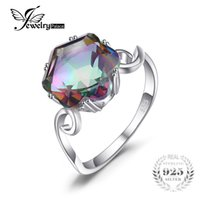 Wholesale mystic fire topaz rings - JewelryPalace 3.2ct Genuine Rainbow Fire Mystic Topaz Ring Solid 925 Sterling Silver Jewelry Best Gift For Women Fine Jewelry