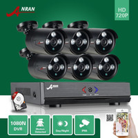 Plug and Play ANRAN HD 1080N 8CH HDMI AHD DVR CCTV Vídeo 6pcs Outdoor Waterproof Array IR Home Security Camera System Free 1TB HDD