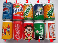 Wholesale Up Mp3 Speaker - Mini Speaker Cans Coke Pepsi Fanta 7-Up Sprite Zip-top Can Speakers USB Portable Sound Box TF Card Speakers Support FM Radio U-Disk DHL