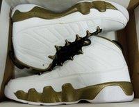 Wholesale Black Man Statue - hot sale 9s Statue WHITE Black Militia Green men Basketball Shoes retro 9 IX sport sneaker