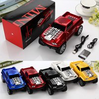Wholesale Truck Speaker Mp3 - Truck Car Shape Mini Wireless Bluetooth Speaker LED Flash Light USB TF SD Card Stereo FM Handsfree Amlifier Car Design Speakers MP3 Player