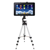 Wholesale Tablet Tripod Stand - Freeshipping Professional Camera Tripod Stand Holder For iPad 2 3 4 Mini Air Pro For Samsung High Quality Tablet PC Stands