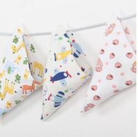 Wholesale Children Scarfs Triangle - Baby drool towel infant children upset triangle towel cotton double buckle baby supplies bib scarf fall and winter