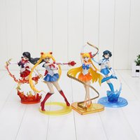 Wholesale Figuarts Zero - 6.7inch 17cm Figuarts Zero Sailor Moon Sailor Venus Mercury Mars PVC Action Figure Model Toy