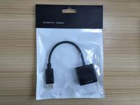 Wholesale Displayport Vga Converter Cable - 1080P HD DisplayPort Display Port DP Male To VGA Female Cable Adapter Converter Free Express 50pcs lot