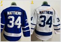 Wholesale Free Leafs Jersey - Youth Leafs #34 Auston Matthews (1)-blue white 2016 Cheap Hockey Jerseys ICE Winter mens women kids Stitched Jersey Free shipping