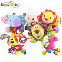 Wholesale Baby Pony Doll - Happy Monkey Newborn Bed Bell Rattle for Crib Stroller Haning Doll Pony Creative Plush Baby Toys