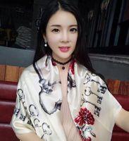 Wholesale Shawl Lace Hijab - Free shipping Luxury Brand original design, Pure Silk Twill Women Square Pattern Scarf ,manual made, shawl wrap, hijab scarf