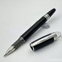 ingrosso scrivere penna a sfera-Di lusso in resina nera a sfera penna a sfera monte penna moda cancelleria scuola forniture per ufficio scrittura penna di marca