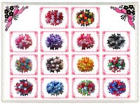 "Wholesale Loopy Boutique Hair Bows - Wholesale-hair accessories FREE SHIPPING NEW SYTLE OF 14PCS FASHION BLESSING Girl Boutique 4.5"" Loopy Puffs Fireworks Hair Bows Clip"