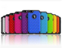 Wholesale Cheap Case Iphone Diamond - Factory Price!!! New Cheap Bling Diamond Starry Rubber PC+ Silicone Hybrid rhinestone Phone Case Cover for Samsung galaxy S6 edge DHL