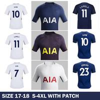 Wholesale Harry Shirts - Whosales New Harry Kane Jersey 17 18 Soccer Jersey 2017 Lamela Eriksen Football Shirt Uniform Dele Alli Son Janssen Dembele 2018 Plus 4XL