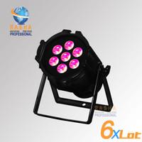 Wholesale Led Light Projectors Sale - 6X Lot Rasha Hot sale Aluminum7pcs*10W RGBW 4IN1Mini LED Par Light,LED Mega Par38,Stage Light,Mini LED Projector Light