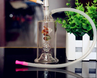 Wholesale Flowers Free Delivery - A variety of flower-shaped glass Hookah, color, style random delivery, Water pipes, glass bongs, glass Hookahs, smoking pipe