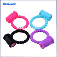 Wholesale Cock Clit - Reusable Clit Vibrating Cock Ring Penis Rings Delay Ring Great Sexx Toyy for Male Adult Sex Products