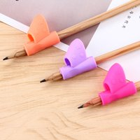 Wholesale Drawing Pencil Wholesale - 6Pcs Set Pencil Holder Writing Hold Pen Grip Posture Correction Tool Anti-Myopia Kid Stationery Pen Controller Kids Drawing Toy
